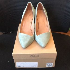 Size 6 Sage Green Madewell Suede Heels